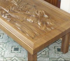 Natural tree tables carved