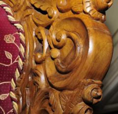 Chairs are wooden carved
