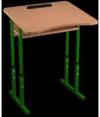 Стіл учнівський Школяр одномісний з вирізом під