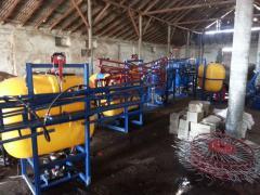 Agricultural machinery, sprayers, rake, voroshilka