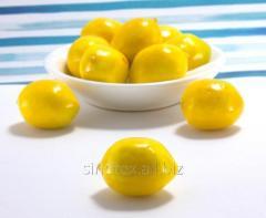"(10шт) Пенопластовые фрукты ""Лимон"" 30х25мм, пенопласт (сп7нг-0975)"