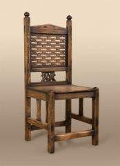 Chairs kitchen artificially made old. A wide