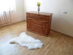Sheepskin, lamb, white, 96 cm by 50 cm