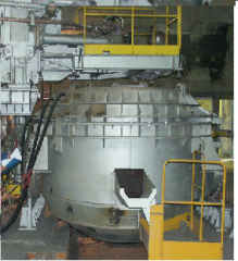 Arc electric furnaces of a direct current without