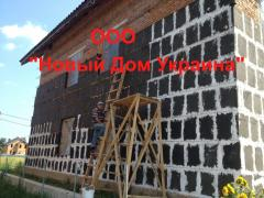 Hermal insulation of houses,  foamglass, ...