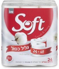 Туалетная бумага двухслойная Compakt Soft Jumbo,