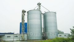 Production and installation of steel silos for