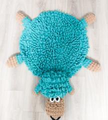Вязаный детский коврик плюшевый ручной роботы Баранчик