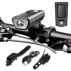 Велофара, велофонарь аккумуляторный, звонок FY-316