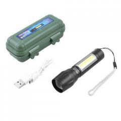 Мини ручной фонарь с кейсом BL 511 Q5 + COB...