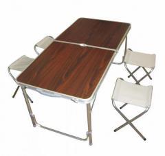 Складной стол для пикника с 4 стульями набор для