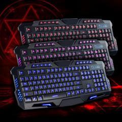 Игровая клавиатура с подсветкой Tricolor M200 три