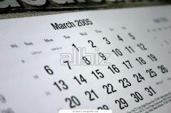 Calendars are wall, design and the press of