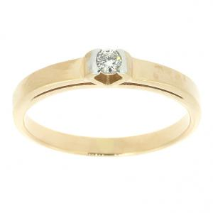 Ювелирное кольцо из красного золота 585 пробы с бриллиантом RD-6758