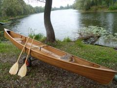 Traditional canoe from exotic breeds of wood