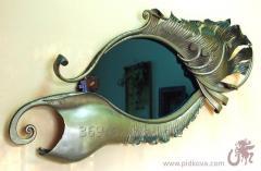 Эксклюзивное кованое зеркало-картина