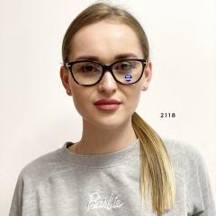 Имиджевые очки в чёрной оправе с защитной линзой