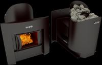 Дровянная печь для бани Grill'D Aurora 180 Window