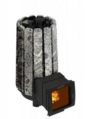 Дровянная печь для бани Grill'D Cometa 180 Vega Long Window Max Stone