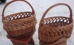 Корзинки, корзины плетеные из лозы недорого и