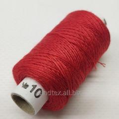 Нитки джинсовые, высокой прочности №10, красные col.010 (РАВ-525)