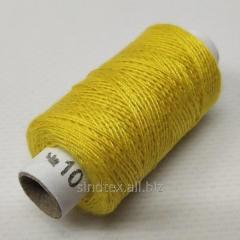 Нитки джинсовые, высокой прочности №10, желтые col.029 (РАВ-527)