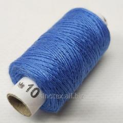 Нитки джинсовые, высокой прочности №10, голубые col.058 (РАВ-528)