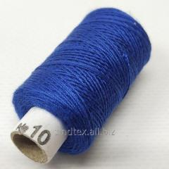 Нитки джинсовые, высокой прочности №10, синие col.064 (РАВ-529)