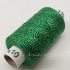 Нитки джинсовые, высокой прочности №10, зеленые col.081 (РАВ-530)