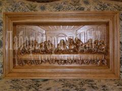 Bas-relief carved Last Supper