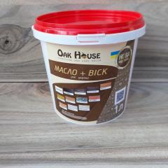 Масло-воск Oak House серого цвета 1л.