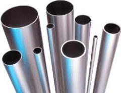 Pipes chrome of various diameters