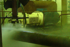 Equipment of water-jet-water abrasive cleaning of