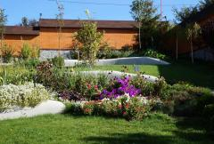 The lawn is a decorative element landscape