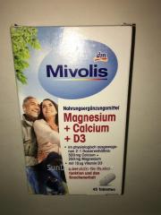 Біологічно активна добавка Mivolis Магнезій, Д3,