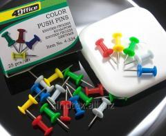 Кнопки гвоздики цветные 4Office, 25шт (сп7нг-5670)