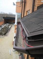 Systems of roofs anti-freezing
