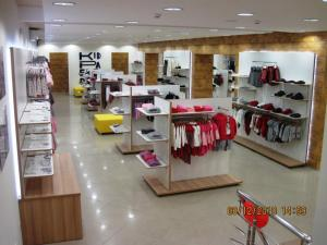 Trade equipment for clothing stores, design