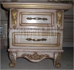 Bedside table bedside Cleopatra, furniture carved