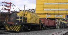 Электротягач Э-2Б для непрерывного перемещения нерасцепленных железнодорожных составов в процессе загрузки полувагонов, пр-во Днепротяжмаш, Украина