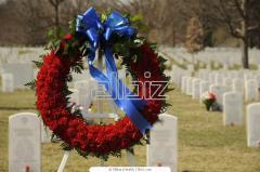 Funeral wreaths, Kherson region, Genichesk