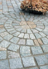 Elements of a paving of roads and sidewalks