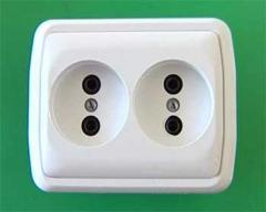 Розетки электрические серии Каштан
