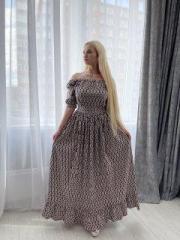 Длинное летнее платье S 44р