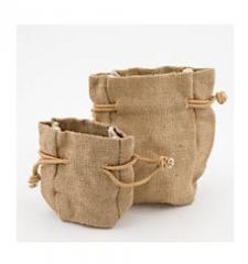 Bags jute from the producer production sale