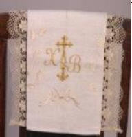 Bench hammer the easter size embroidered with lace
