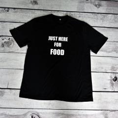 Женская футболка с принтом Just here for food