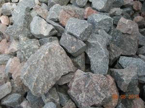 Granite stone rubble