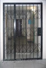 Техническая дверь-решётка