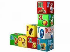 Дитячі кубики з алфавітом Укр. мовою / Детские